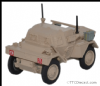 OXFORD 76DSC006 Dingo Scout Car 5th RTR - 4th Arm.Brg -7th